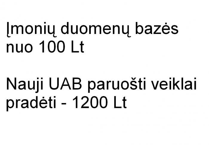 Įmonių duomenų bazės - 200tūkst. įrašų