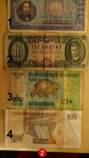 Įvairių šalių banknotai
