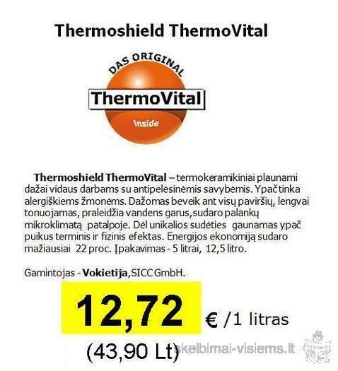 Šilumą taupantys dažai THERMOSHIELD (Vokietija)