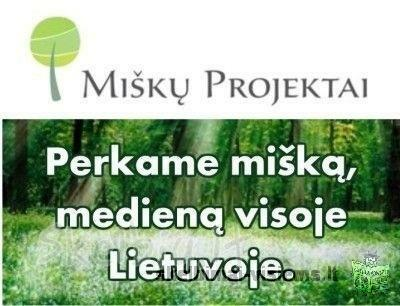 """""""miškų projektai"""" +37067641155 Perka Mišką"""