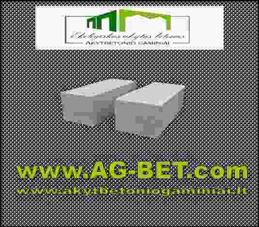 Akytbetonio blokeliai kaina 135Lt/m3
