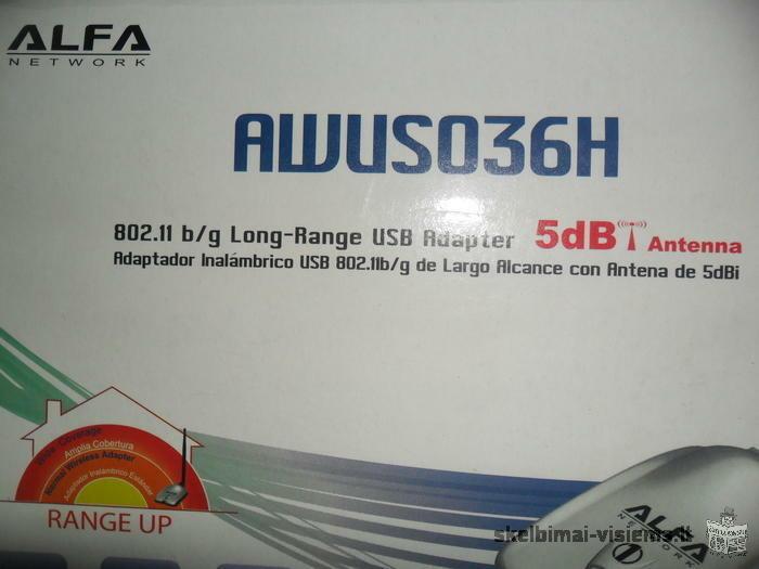 Alfa AWUS036H didelio nuotolio USB WiFi adapteris
