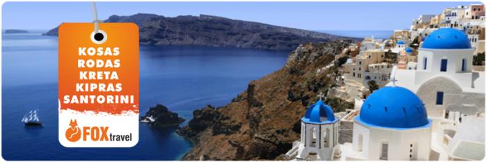 Atostogos Rodo, Koso, Kretos, Kipro ir Santorinio salose!