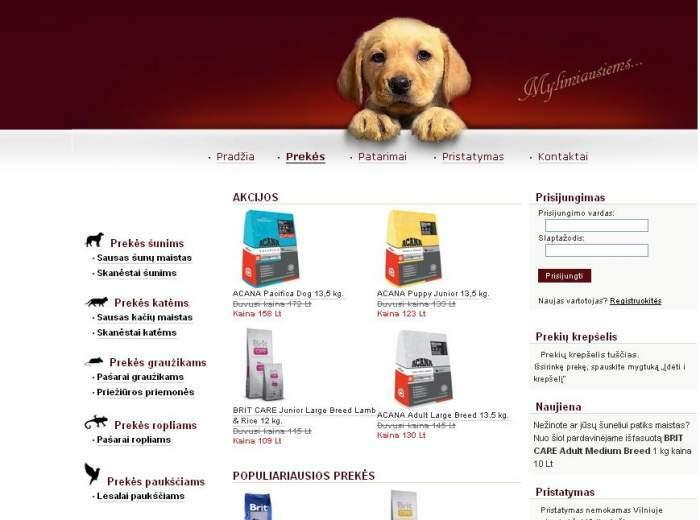 Auau.lt - prekių gyvūnams internetinė parduotuvė