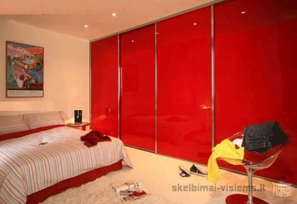 Aukštos kokybės, lengvai montuojamos stumdomos durys už mažiausią kainą, baldines detales.