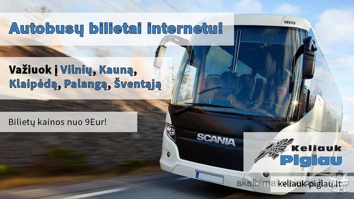 Autobusai: Vilnius - Kaunas - Klaipėda - Palanga - Šventoji.