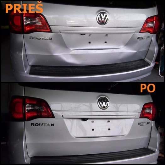 Automobilio įlenkimų lyginimas be dažymo