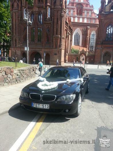 BMW 740Li individual nuoma nuo 30Lt/val. pigiai tel. 862026000