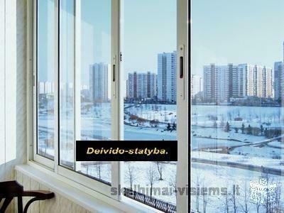 Balkonu stiklinimas,skardinimas.