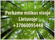 Brangiai perkame mišką Vilniaus apskr.