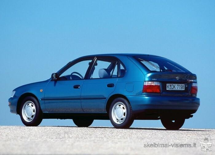 Brangiai superku Toyota Corolla dyzelinius automobilius 2.0D 53kw 91-99 metu