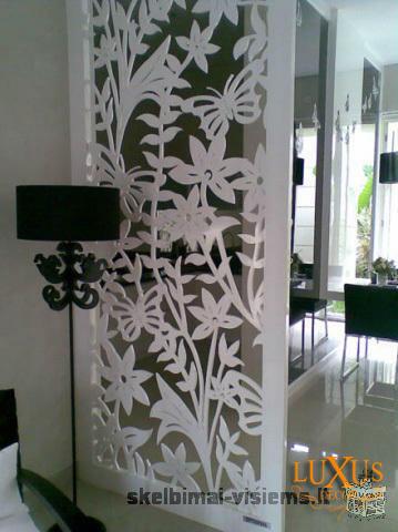 Dekoratyvinės ažūrinės pertvaros, interjero dekoracijos