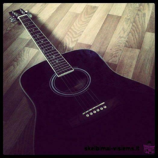 Dimavery firmos gitara. +pasiltintas deklas, derintuvas 200 l