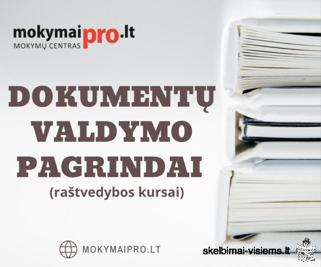 Dokumentų valdymo pagrindai (nuotoliniu būdu)