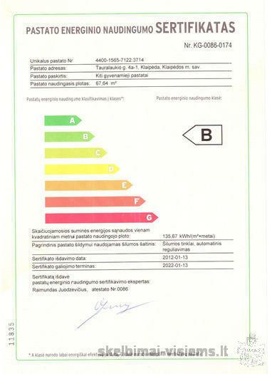 Energetinis naudingumo sertifikatas