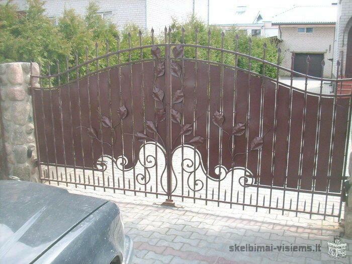 Gaminame turėklus, vartus, duris, tvoras.
