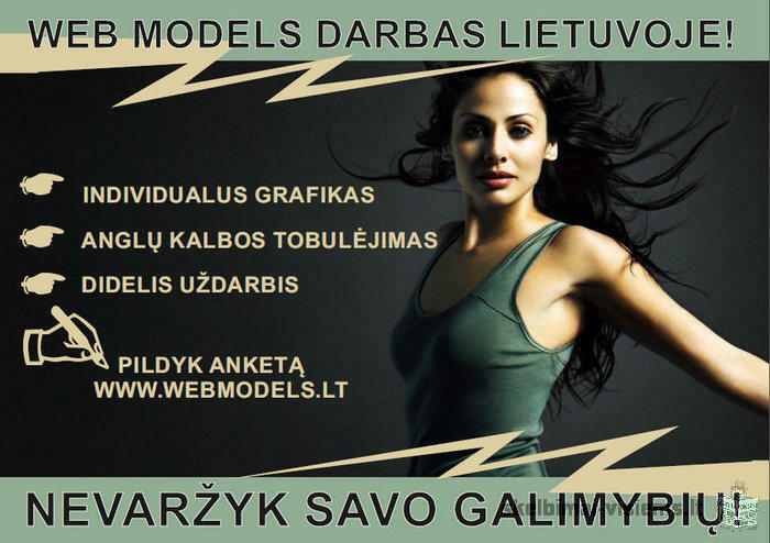 Gerai apmokamas WEB Modelio darbas Merginoms!