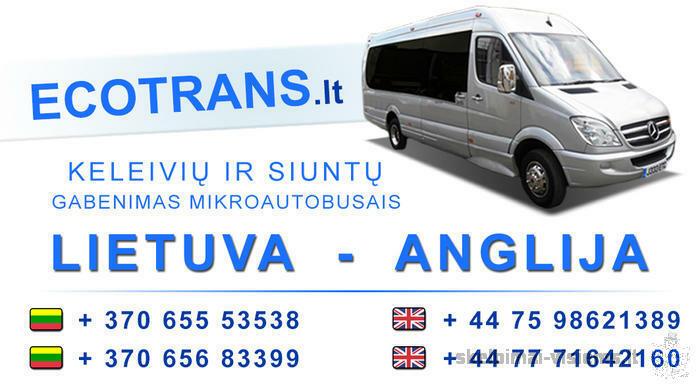Gyvunu, siuntu, keleiviu pervezimas Lietuva - Anglija