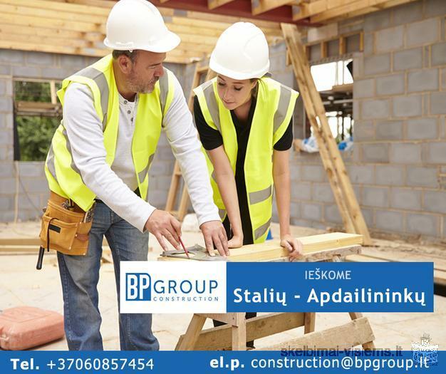 Ieškome Stalių - Apdailininkų - BP Group Construction