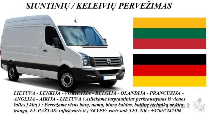 KROVINIŲ GABENIMAS : į Vokietiją, iš Vokietijos •Pilnų / Dalinių krovinių pervežimas į / iš Vokiet
