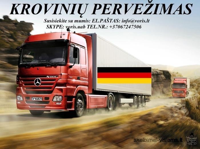 KROVINIŲ GABENIMAS : į Vokietiją, iš Vokietijos • Pilnų / Dalinių krovinių pervežimas į / iš Vokieti