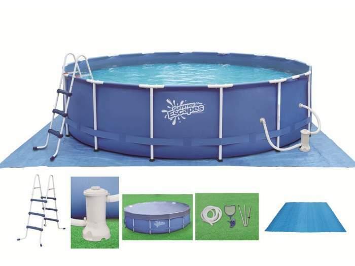 """Karkasiniai """"Frame pool"""" baseinai"""