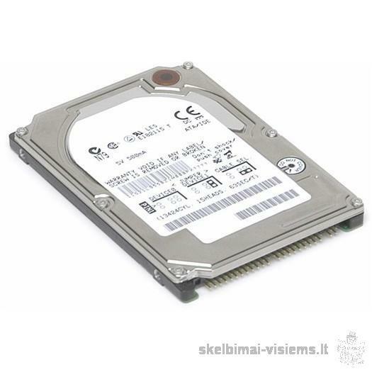Kieti diskai laptopams 500,160,120 GB