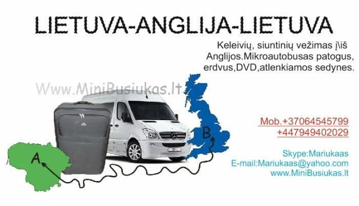 LIETUVA-ANGLIJA-LIETUVA BIRZELIO 20,27D.