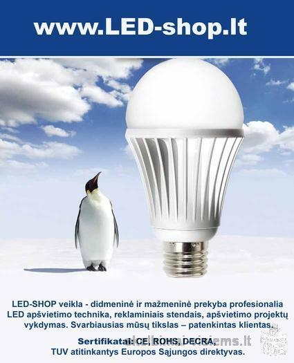 Led lemputės ir prožektoriai geros kokybės