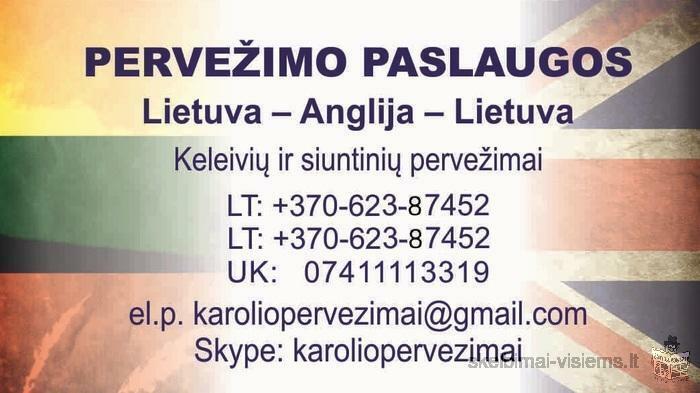 Lietuva - ANGLIJA - LIETUVA +37062387452
