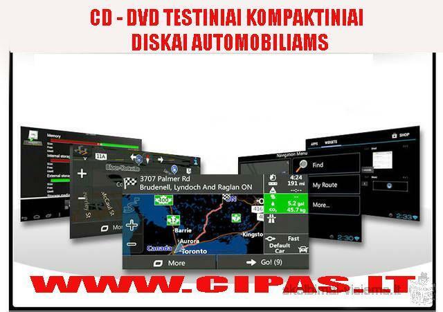 Mašininių navigacijų naujinimo kompaktiniai diskai
