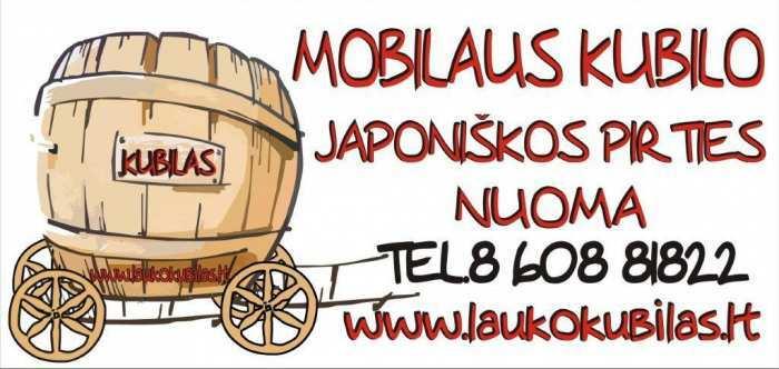 Mobilaus kubilo (Japoniskos pirties) nuoma!