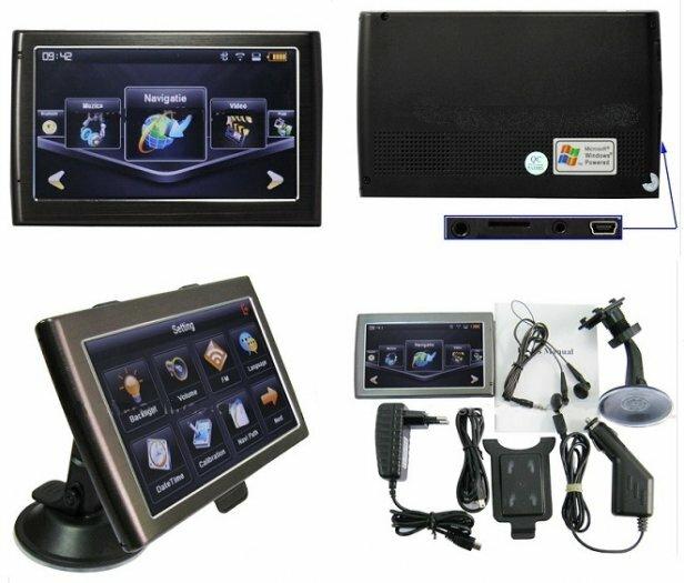 NAUJAUSIA GPS NAVIGACIJA 3D+ 500Mhz + FM Transmitter + Bluetooth