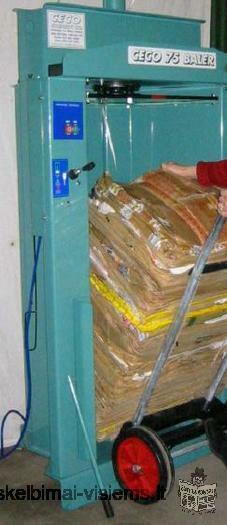 Naujas atliekų (šiukšlių) presas