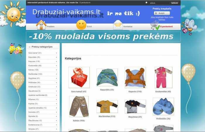 Nauji rūbai vaikams