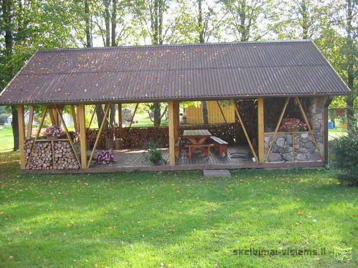 Nuomojamas 6 vietų namelis su visais patogumais Molėtų rajone, netoli Alantos.