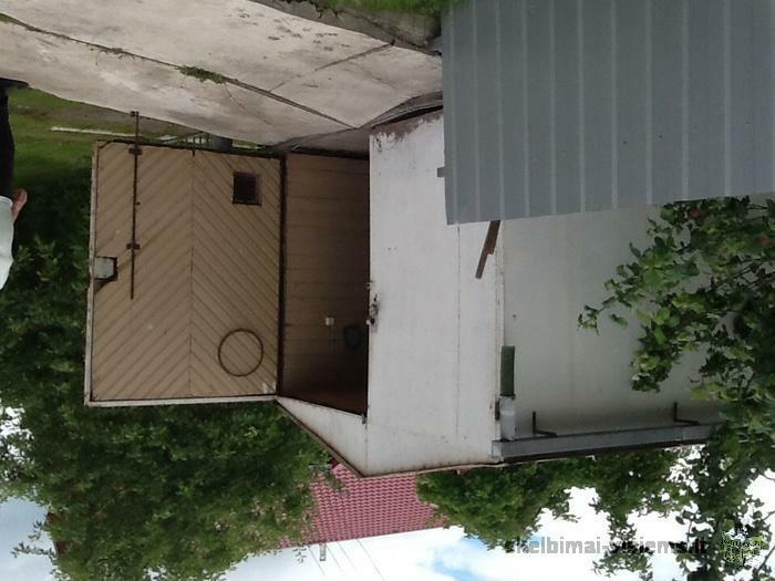 Nusikelimui metalinis garažas Panevėžyje