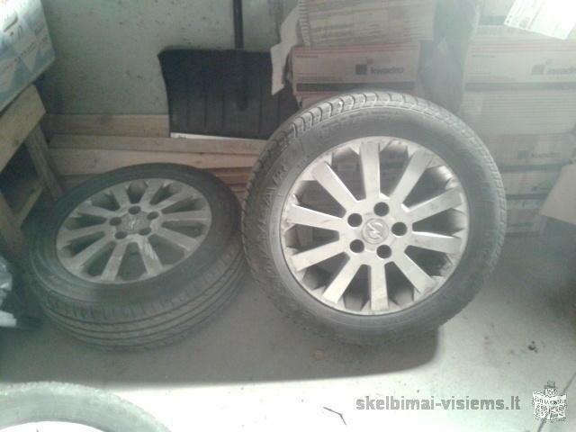 Opel Zafira. Lengvojo lydinio ratlankiai(originalūs) 4 vnt. Tvirtinimo taškai 5.