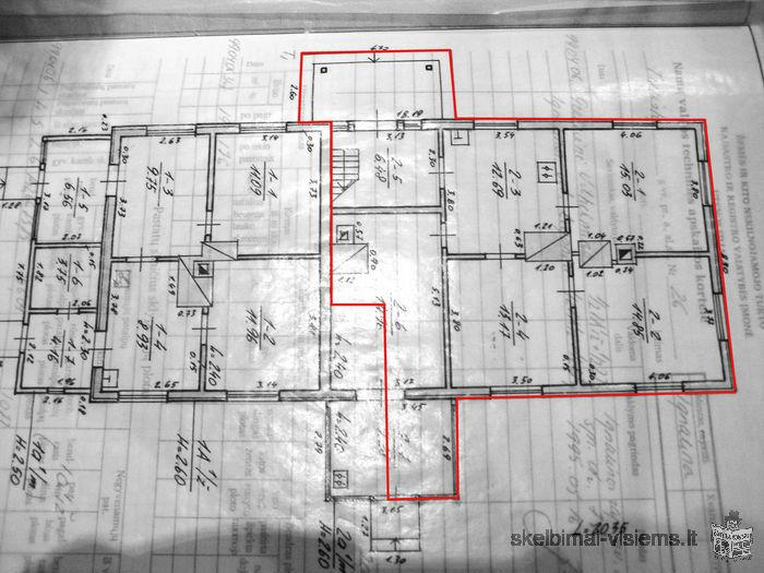 Parduodama gyvenamojo namo dalis - 3 kambarių butas Turistų g., Ignalinoje.