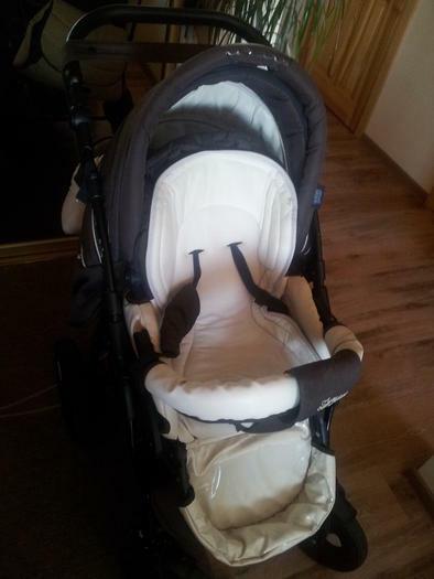 Parduodamas vežimėlis Zippy clasic 3 in 1 su odos elementais