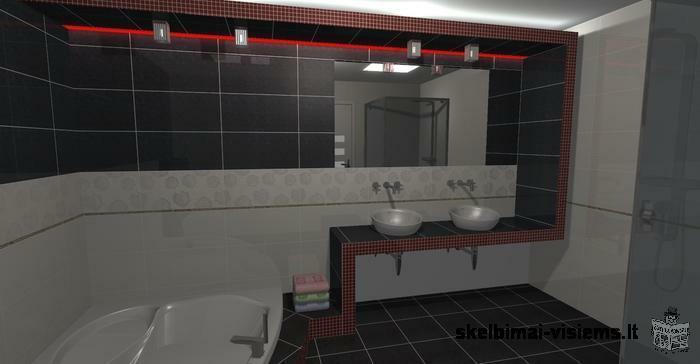 Plytelės,vonios,dizainas