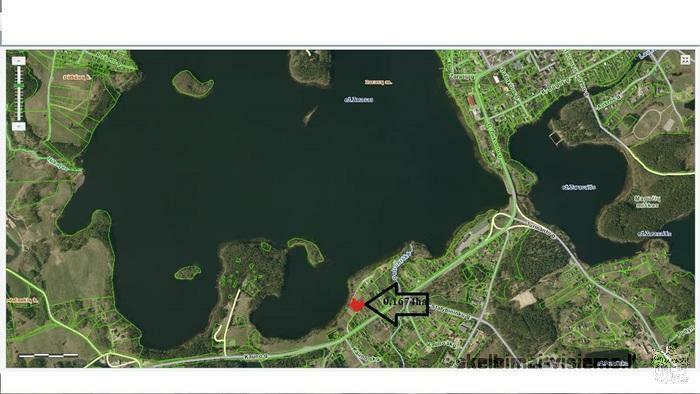 SKlypas su namu šalia Zaraso ežero