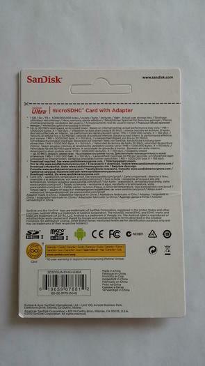 Sandsik ultra microsdhc 64GB klase 10