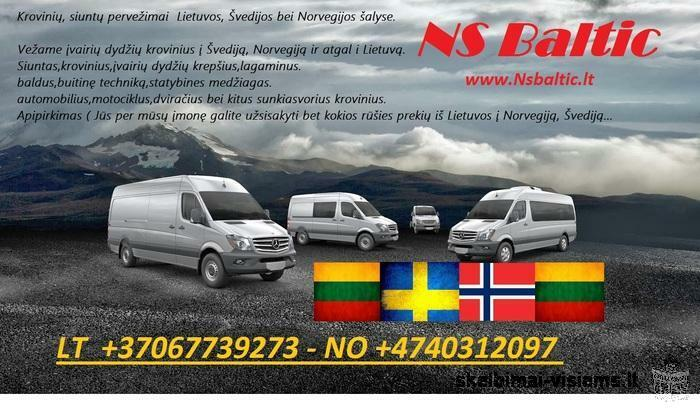 Siuntniai į Norvegiją,Švediją.Nuo durų iki durų