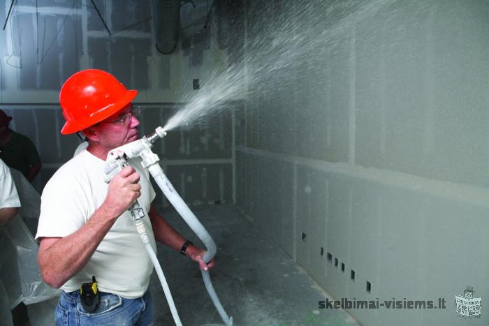 Specializuotai dažome įvairios paskirties pastatus