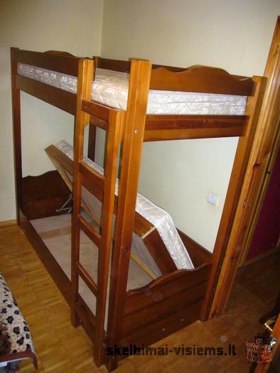 Tvirta dviaukštė lova
