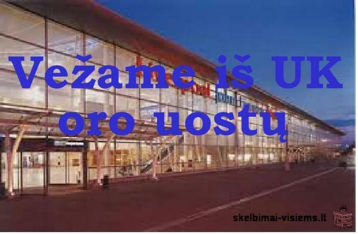 Vežame iš UK oro uostų iki namų durų