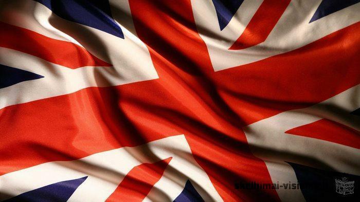 darbas Didžiojoje Britanijoje