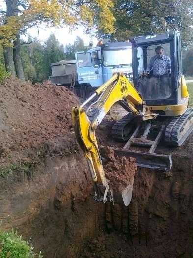 kanalizacijos kasimo darbai
