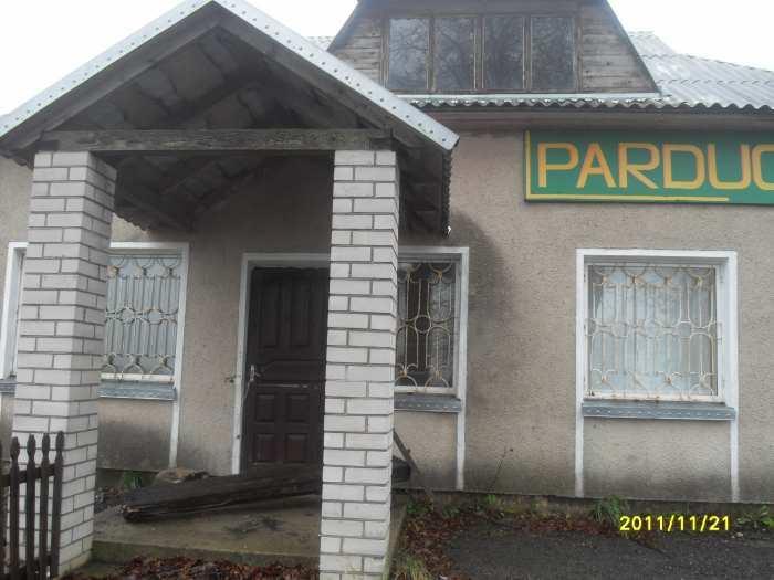 parduodamas namas - komercines patalpos parduruve